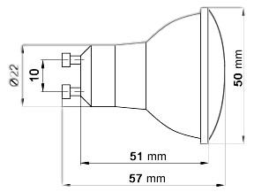 Technicke rozmery 30SMD GU10 stmievatelna