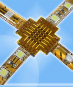 X-Spojka pre RGB a Biele LED pásy