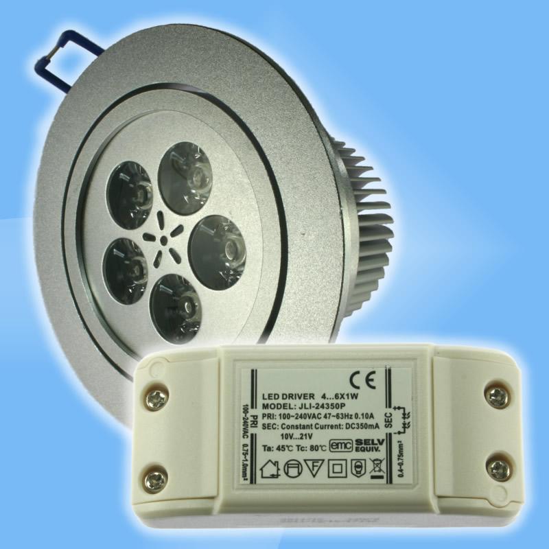LED svietidlo 5W náhrada za 30W halogénku, strieborné