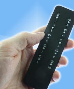 Rádiový ďiaľkový stmievač 1, 5 a 10 kanálový - súprava