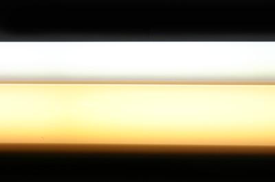Porovnanie celistvosti svetla Teplej a Dennej Bielej