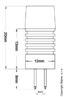 G4 hlinikova LED ziarovka technicke parametre