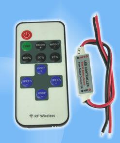 Mini ďiaľkový rádiový stmievač  pre LED pásy