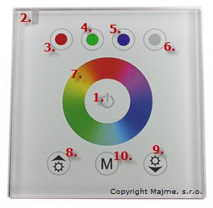 Popis funkcii RGB ovládača