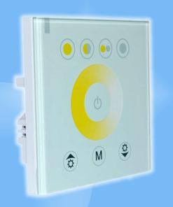 Dotykový stenový ovládač pre miešanie tónu farby bielej
