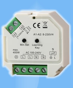 Stmievací modul pre montáž do inštalačnej krabice s rádio ovládaním