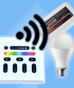 Dotykový stenový RGBW rádio ovládač