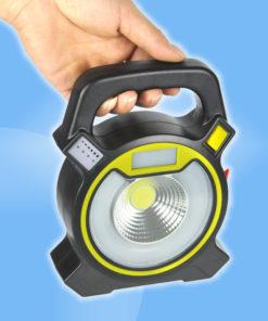 Prenosný viacúčelový 15W LED reflektor a batériová banka