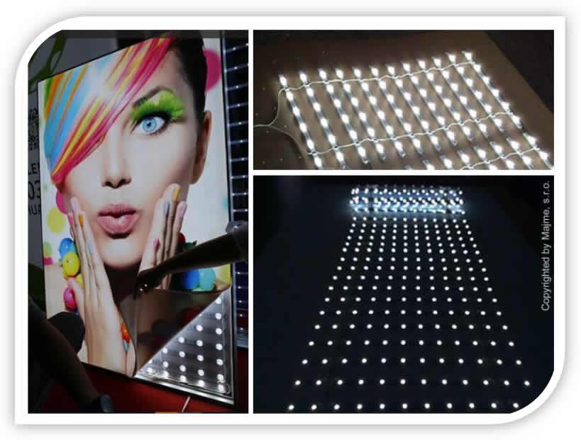 Aplikacie podsvietenia roletovým LED
