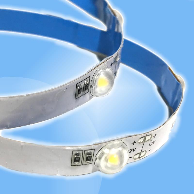 LED pásik priamy s optickou čočkou pre úzke aplikácie