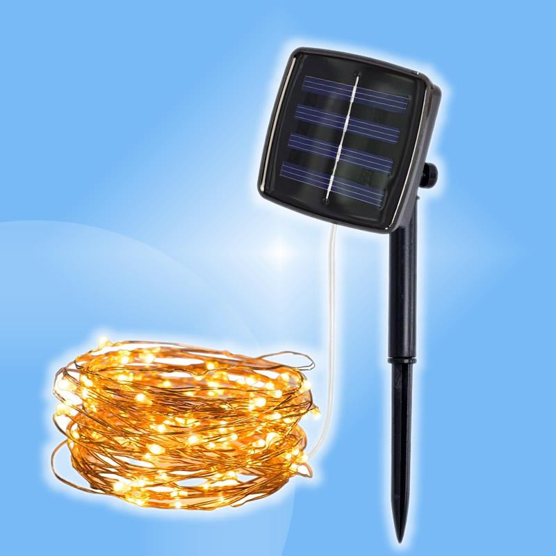 Vianočná LED dekoračná solárna reťaz