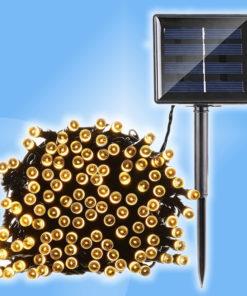 Vianočné solárne exteriérové osvetlenie reťaz