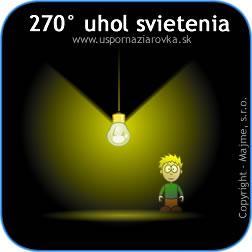 Uhol svietenia LED žiarovky do priestoru je 270 stupňov