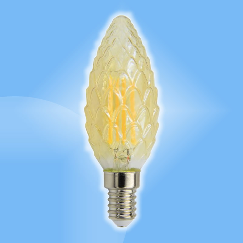 Filament retro LED E14 sviečková 4W