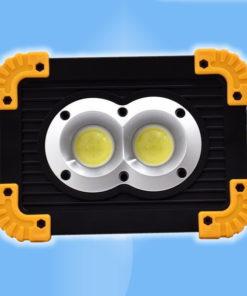 Prenosný LED reflektor a batériová banka